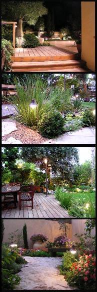 תאורת גן - קליפורניה עיצוב גינות